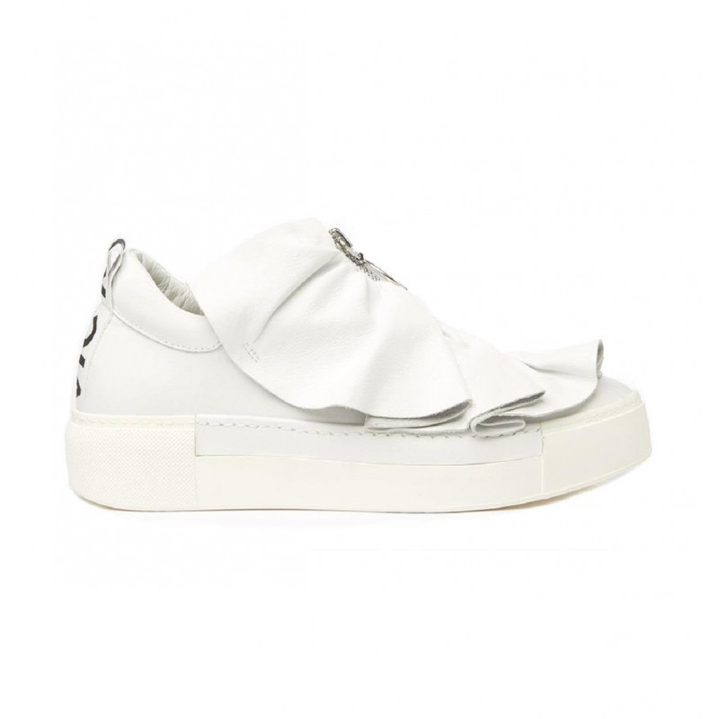 info for 5c69d 81f9b Scarpe Vic Matie 1U7136D Q36TSDT175 white zip rouches pelle ss19