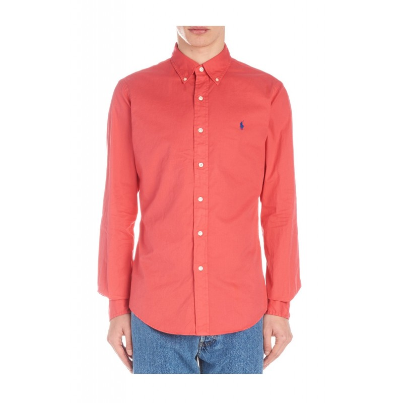 best website 055d8 66027 Camicia Polo Ralph Lauren uomo twill red cactus flower ss19