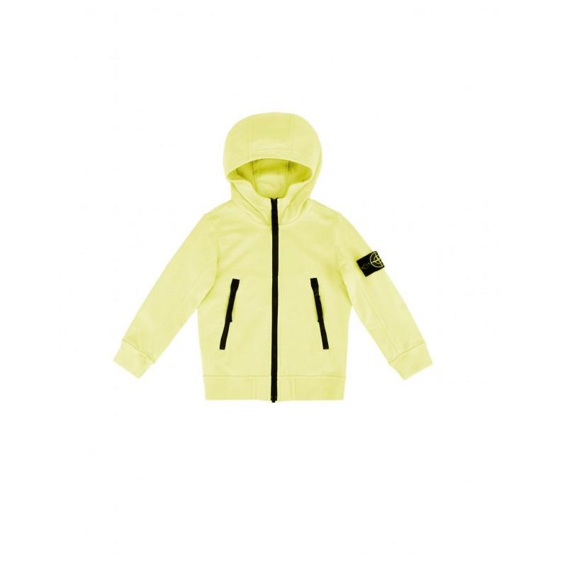 economico per lo sconto 2e10e e2f21 Felpa Stone Island Junior in pile cotne mako 63539 v0031 yellow limon ss18