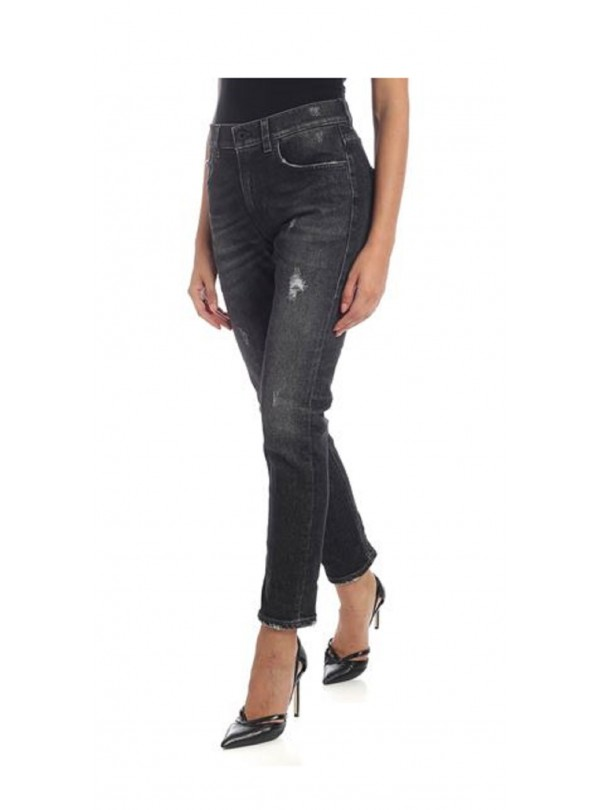 2d945f8834 Jeans Dondup donna mila dp466 nero AI19
