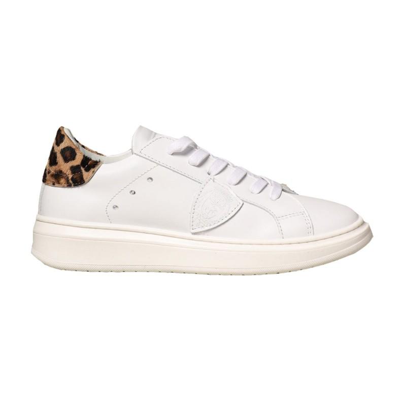 Sneaker Philippe model Paris bimba Granville Leopard bianca